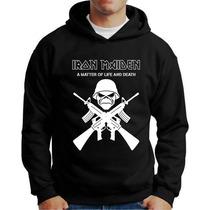 Blusa Moletom Iron Maiden Banda Rock Casaco Iron Maiden