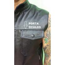 Colete Couro Legítimo Motociclista Modelo Sons Of Anarchy