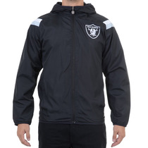 Jaqueta Masculina New Era Windbreack Raiders Preta