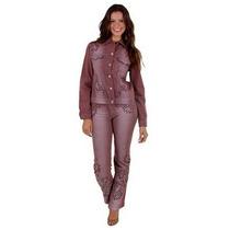 Conjunto Calça E Jaqueta Jeans 38