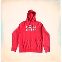 Blusa Hollister Zuma Beach Hoodie Red