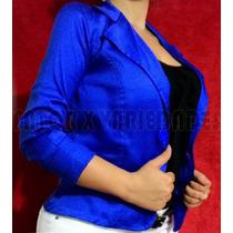 Blazer Casaco Jaqueta Terninhos Femininos Azul