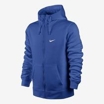 Linda Jaqueta Moleton Nike Azul Gg C/ Capuz Bolsos Frontais