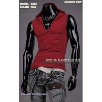 Camisa / Camiseta / Regata Masculina - Importada - Com Capuz