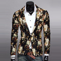 Blazer, Paletó Masculino Novo Floral Estiloso, Fashion, Slim