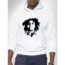 Blusa Bob Marley (jah) Moletom Canguru