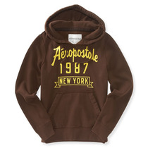 Aeropostale Mens New York Jaqueta Camisola Do Hoodie