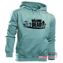 Moletom The Walking Dead Md1 Blusa Canguru Capuz Bolso