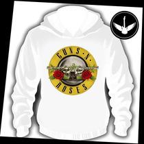 Moletom Guns N Roses Logo Canguru Casaco Banda Hard Rock