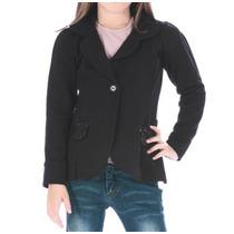 Blazer/casaco Infantil Preto Em Moletom P/ Menina Qui25351