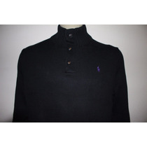 Sweater Button Mock-neck Polo Ralph Lauren Masculina
