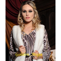 Colete Feminino Pele Sintética-moda Inverno
