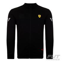 Jaqueta Puma Scuderia Ferrari Track Preta - Futfanatics