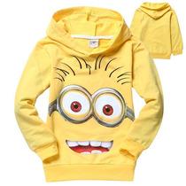 Blusa Infantil Com Capuz Minion - Tamanho 6/7 Anos - Nova