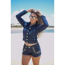 Jaqueta Jeans Feminina Disponível Nos Tamanhos P, M E G!