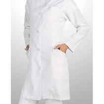 Jaleco Branco Feminino Acinturado - Gabardine