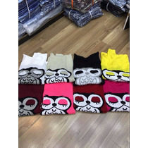 Blusa De Frio Coruja Moda Feminina De Lã 10 Peca 390 Reais