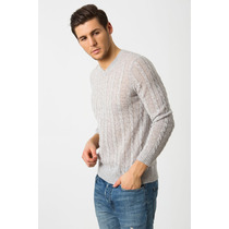 Suéter Masculino (angelo Cable Mens) - Light Grey