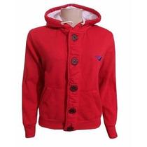 Blusa Hollister Feminina De Moleton Casaco Jaqueta Vermelha