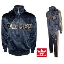 Conjunto Agasalho Adidas Masculino Ads10 - Nylon