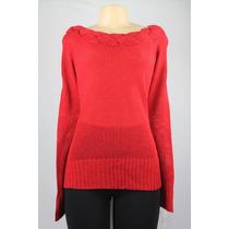 John Paul Richard Manga Comprida Knit Sweater Lady Bug Red L