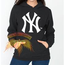 Blusa New York Yankees Feminino - Moletom Canguru- Promoção!