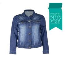 Jaqueta Jeans Fashion Fact Moletinho Plus Size Camisa 2299