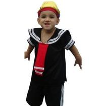 Fantasia Quico/kiko Infantil Turma Do Chaves Pronta Entrega