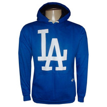 Blusa Moletom Los Angeles Dodgers Baseboll Azul Royal La