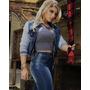 Jaqueta Jeans Moleton Feminina W. Pink