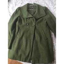 Casaco Verde Musgo De Lã Batida