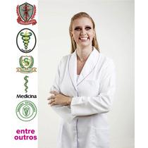 Jaleco Feminino Acinturado Com Aplicação De Vivo Colorido.