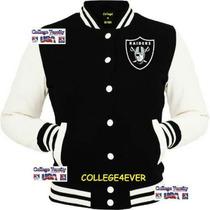 Jaqueta College Varsity Raiders Oakland Usa- No Brasil !!