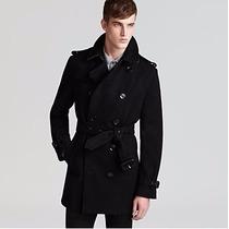 Sobretudo Importado P Masculino Trench Coat Elegante Em Lã