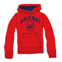 Hoody - Arsenal Oficial Fc Mens Tamanho L Red Sweater Crest