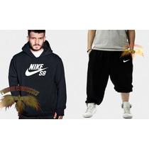 Conjunto Nike Sb( Calça + Blusa ) Moletom Canguru- Promoção!