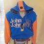 Jaqueta De Moleton Com Capuz Jonh Jonh Nova Blusa Promoção