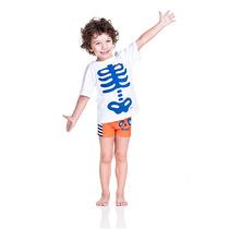 Sunga Cara De Criança Boxer - Esqueleto