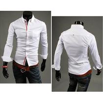 Blusa Masculina Social Camisa Roupa Loja Fit Slim Importada