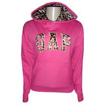 Blusa Moletom Gap Feminina Rosa Pink Onça