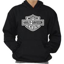 Moleton Harley Davdison Blusa Com Capuz Modelo Canguru