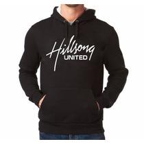 Blusa Moletom Hilsong United Rock Gospel Canguru Com Capuz
