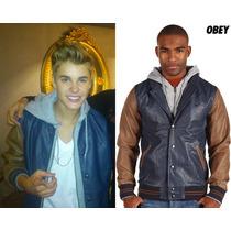 Jaque De Couro Obey Justin Bieber Original Abercrombie Tommy