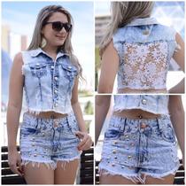 Colete Jeans Feminino Disponível Nos Tamanhos P, M E G! 69,9