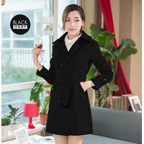Trench Coat Importado Gg- Sobretudo Casual Elegante Preto Lã