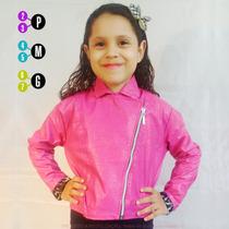 Jaqueta Couro Infantil Promoção Feminina Preto Frete Grátis
