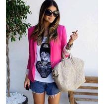 Blazer Zara Rosa Pink - Pronta Entrega