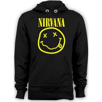 Blusa De Moleton Banda Nirvana Frete Grats