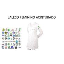 Jaleco Feminino Acinturado - Logo Bordado Gratis