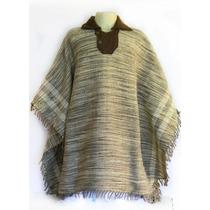 Pala Artesanal Feito Em Lã De Ovelha Poncho Rodeio N48